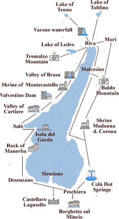 Lake of Garda map of the tours