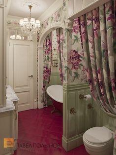 Фото: Интерьер ванной комнаты - Интерьер шестикомнатной квартиры в классическом стиле, Малый пр. П.С., 160 кв.м.