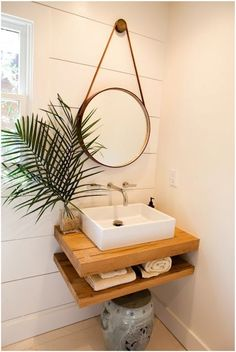 tiny Bathroom Decor Well, no doubt it is not possible to enlarge the space, but you can create an illusion of wider space through DIY bathroom decoration ideas. Diy Bathroom Remodel, Shower Remodel, Diy Bathroom Decor, Bathroom Interior, Bathroom Ideas, Bathroom Inspo, Budget Bathroom, Tiny Bathrooms, Small Bathroom Sinks