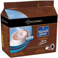 Maxwell House Caf Collection Skinny Cappuccino FatFree TDiscs for Tassim >>> Check this awesome product by going to the link at the image. (This is an affiliate link and I receive a commission for the sales)