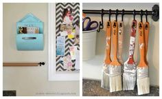 cute way to store your paint brushes!