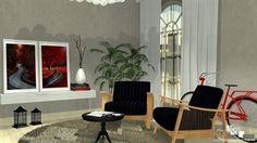 sala sala retro sala leitura  - Galeria de Projetos Promob