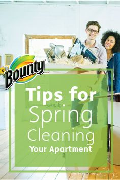 Brighten your home this season with these Tips for Spring Cleaning Your Apartment, brought to you by Bounty. With just a few basic household items and a little elbow grease, you'll have shiny floors and crystal-clear windows to greet the season.