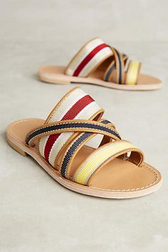94dca1142a36 Morena Gabbrielli Adria Slides - anthropologie.com Flat Sandals