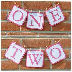 "Reversible ""One"" Two"" banner! Etsy: Little Bits Homemade"