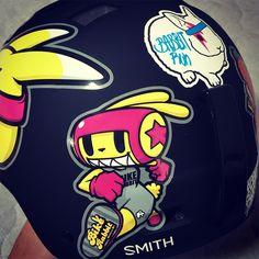 Bike rabbit. 'BABBITRUN' Extreme brand character helmet tuning skin graphicer design. Designed by DOLDOL.  www.graphicer.com.  #Snowboard #skateboard #sk8 #longboard #surf #hiphop #bike #graphicer #mtb  #스노우보드 #롱보드 #그래피커 #토끼 #할리퀸 #헬멧 #graffiti #character #돌돌디자인 #일러스트 #rabbit #stickers #인스타그램 #cheetha #runing #illustration #헬멧스티커 #helmet #스노우보드스티커 #바빗런 #헬멧튜닝