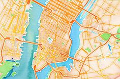 Online tool that turns any place into a watercolor drawing, by Stamen, San Francisco  http://maps.stamen.com/watercolor/#12/37.7706/-122.3782
