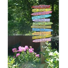 Favorite Places Directional Yard Sign  by whimsystudios on Etsy, $75.00   I like her artwork! I can not afford this, but love it anyway!