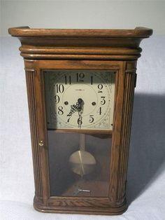 Howard Miller Sandringham Pendulum Oak Wall Clock 613-108 W Westminster Chime