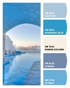 Paint colors from Chip It! by Sherwin-Williams Blue Paint Colors, Paint Colors For Home, Wall Colors, Beach House Colors, Beach House Decor, Colour Pallete, Colour Schemes, Color Palettes, Decoration Palette