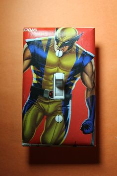 Wolverine Comic Book Superhero Light Switch Plate by ComicRecycled
