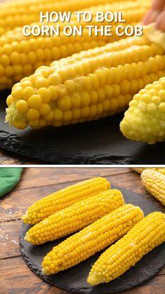 Side Dish Recipes, Veggie Recipes, Healthy Dinner Recipes, Side Dishes Easy, Vegetable Side Dishes, Boiled Corn, Chicken Pasta Recipes, Recipe Chicken, How To Cook Corn