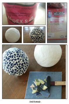 bowling kugel garten deko 20 ideen mosaik glas mosaik pinterest garten deko kugel und mosaik. Black Bedroom Furniture Sets. Home Design Ideas