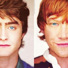 Look at Rupert's smirk! And Dan's hair.... And both of their eyes!