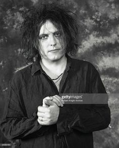 Photo of Robert SMITH and CURE; Robert Smith posed at Rockwalk Walk Of Fame induction