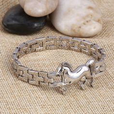 $9.99 Horse Stainless Steel Charm bracelet shop styledrestyled.com for the latest trendy fashions and jewelry
