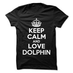 Keep Calm and Love DOLPHIN T-Shirts, Hoodies. ADD TO CART ==► https://www.sunfrog.com/Names/Keep-Calm-and-Love-DOLPHIN-101407079-Guys.html?id=41382