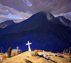huariqueje: Campo Santo , Cemetery - Maynard Dixon ,...