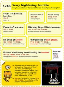 Easy to Learn Korean 1246 - Scary, frightening, and horrible.