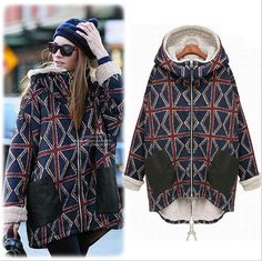 2015 New Autumn Winter Thick Women Parkas Coats Geometric Pattern Plus Size Jackets Super Warm Long Sleeves-in Down & Parkas from Women's Clothing & Accessories on Aliexpress.com | Alibaba Group US $40