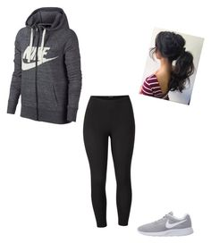"""Exercise outfit"" by maliyah-wbms on Polyvore featuring NIKE, Venus and plus size clothing"
