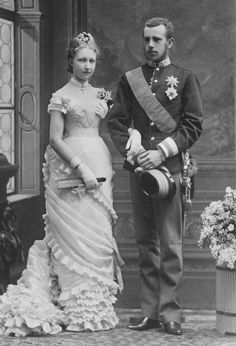 The Princess Stéphanie of Belgium, later H. The Crown Princess of Austria and H. Archduke Rudolph, Crown Prince of Austria and Hungary Engagement Princess Stephanie, Princess Elizabeth, Austria, Impératrice Sissi, Wedding Veil, Wedding Dresses, Bridal Gowns, Peter And The Starcatcher, 1880s Fashion