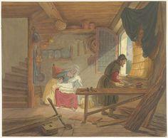 De Heilige Familie in Jozefs werkplaats, Tethart Philip Christian Haag, Aert de Gelder, 1747 - 1812 Rijksmuseum, Amsterdam