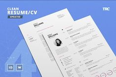 Clean Resume/Cv Template Volume 4 - Best Seller Savings Options - You can find this Resume Template also in these Bundles: Professionally designed, ea. Cover Letter Template, Cv Template, Letter Templates, Resume Templates, Design Templates, Resume Cv, Resume Design, Sample Resume, Business Brochure