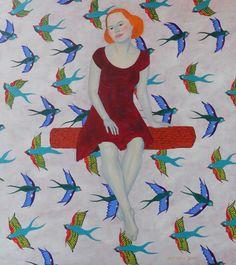 "Saatchi Online Artist: Dace Gaile; Oil, 2011, Painting ""Alma"" #art"