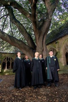 Pin for Later: 13 Places Every Harry Potter Fan MUST Visit in the UK Here's Draco and his Slytherin cronies in Harry Potter and the Goblet of Fire. Here's Draco and his Slytherin cronies in Harry Potter and the Goblet of Fire. Draco Harry Potter, Mundo Harry Potter, Harry Potter Tumblr, Harry Potter Pictures, Harry Potter Characters, Tom Felton, Draco Malfoy Aesthetic, Slytherin Aesthetic, Severus Rogue