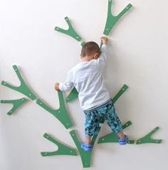 Indoor Tree Climbing - cute  I'd love to see these pieces up close..great idea