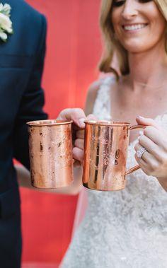 Wedding monogram, custom wedding glasses, custom mug, moscow mule mug, cocktail hour, wedding decor, copper glass. Purchased at Moscow Copper