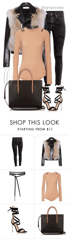 """Untitled #2692"" by highfashionfiles ❤ liked on Polyvore featuring Yves Saint Laurent, Maison Margiela, Gianvito Rossi and Christian Louboutin"