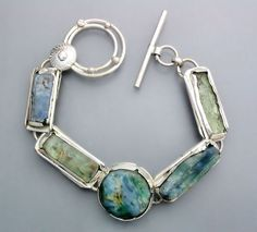 Natural Kyanite Crystal Bracelet RESERVED by Temi on Etsy, $260.00