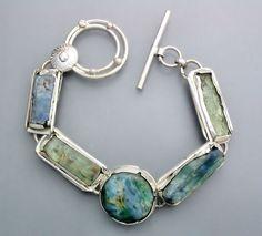 Natural Kyanite Crystal Bracelet RESERVED by Temi on Etsy, $260.00