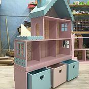 Кукольный домик стеллаж 6-комнатные апартаменты с террасой – купить или заказать в интернет-магазине на Ярмарке Мастеров | Самый большой домик в своей коллекции на…