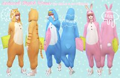 [Animal night wear - for MALE &for FEMALE]DOWNLOAD/MediaFirefor female,for male/clothing-body/original mesh by EA/re-mesh by me. *not fit for female Breast size-morph.can not...