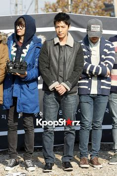 Eunhyuk, Donghae, and Sungmin at Leeteuk's enlistment