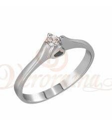 Μονόπετρo δαχτυλίδι Κ18 λευκόχρυσο με διαμάντι κοπής brilliant - MBR_002 Engagement Rings, Jewelry, Fashion, Rings For Engagement, Wedding Rings, Jewlery, Moda, Jewels, La Mode