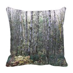 Quiet Woods Throw Pillow #nature #forests #trees #homedecor #Alders