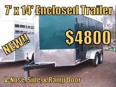 Hunter Green 7' x 14' Enclosed Trailer w/ Ramp Door - 1 IN STOCK - $5100