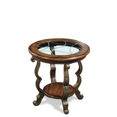 Ambrosia Round End Table by Riverside - Home Gallery Stores
