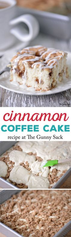 This Cinnamon Coffee Cake recipe is perfect for brunch or serve it as dessert with a cup of steaming coffee.