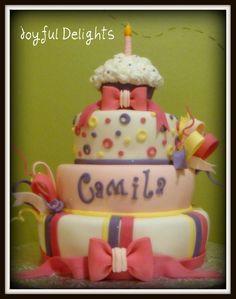 Baby Girls 1st birthday cake. — Children's Birthday Cakes