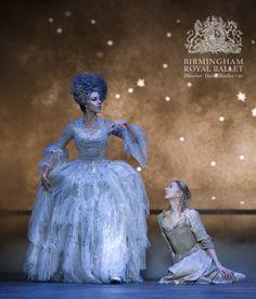 Birmingham Royal Ballet - Cinderella; Victoria Marr as the Fairy Godmother and Elisha Willis as Cinderella; photo: Bill Cooper