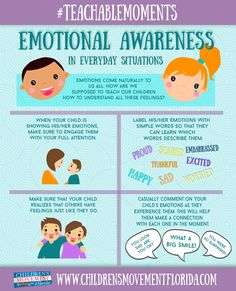 The Children's Movement of Florida: #TeachableMoments: Emotional Awareness in Everyday Situations