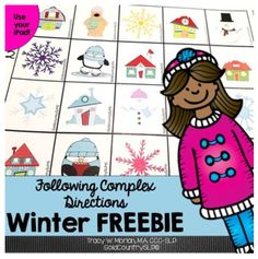 We all love freebies! Here I have compiled some great looking winter freebies to keep youbusy throughout the season!