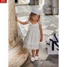Βαπτιστικό φόρεμα Dolce Bambini υψηλής ραπτικής σε ivory απόχρωση από λουλουδάτη δαντέλα, Βαπτιστικά ρούχα κορίτσι επώνυμα-τιμές, Φορεματάκια βάπτισης νέες παραλαβές, Dolce Bambini βαπτιστικά φορέματα eshop