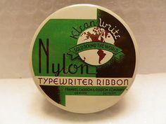 Nice vintage typewriter ribbon tin (nylon) ... tincollection