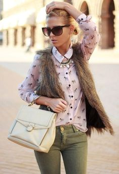 Warm up and look cute with a VEST (25 photos)